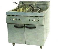 Electric 2-Tank Fryer (4-Basket) With Cabinet